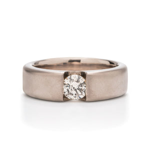 Grey Gold and Diamond Men's Band - Charles Koll Jewellers