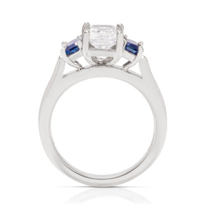 Three Stone Sapphire Semi-Mount - Charles Koll Jewellers