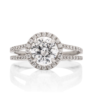 Split Shank Halo Semi-Mount - Charles Koll Jewellers