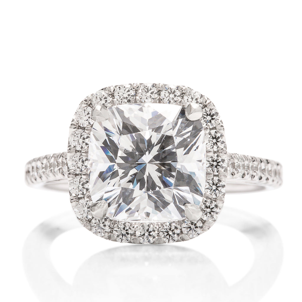 Cushion Halo Diamond Semi-Mount - Charles Koll Jewellers