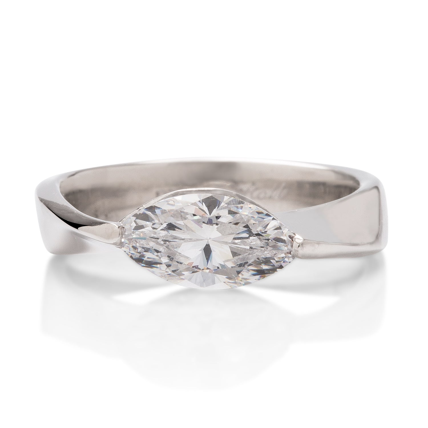 Marquise Mobius Engagement Ring Mounting - Charles Koll Jewellers