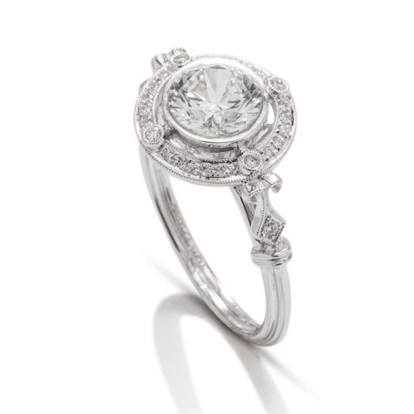 Vintage Diamond Halo Semi-Mount - Charles Koll Jewellers