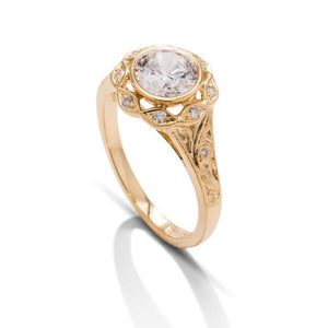 Vintage Yellow Gold Semi-Mount - Charles Koll Jewellers