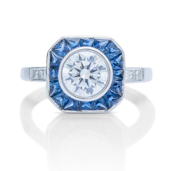 Vintage Diamond and Sapphire Semi-Mount - Charles Koll Jewellers