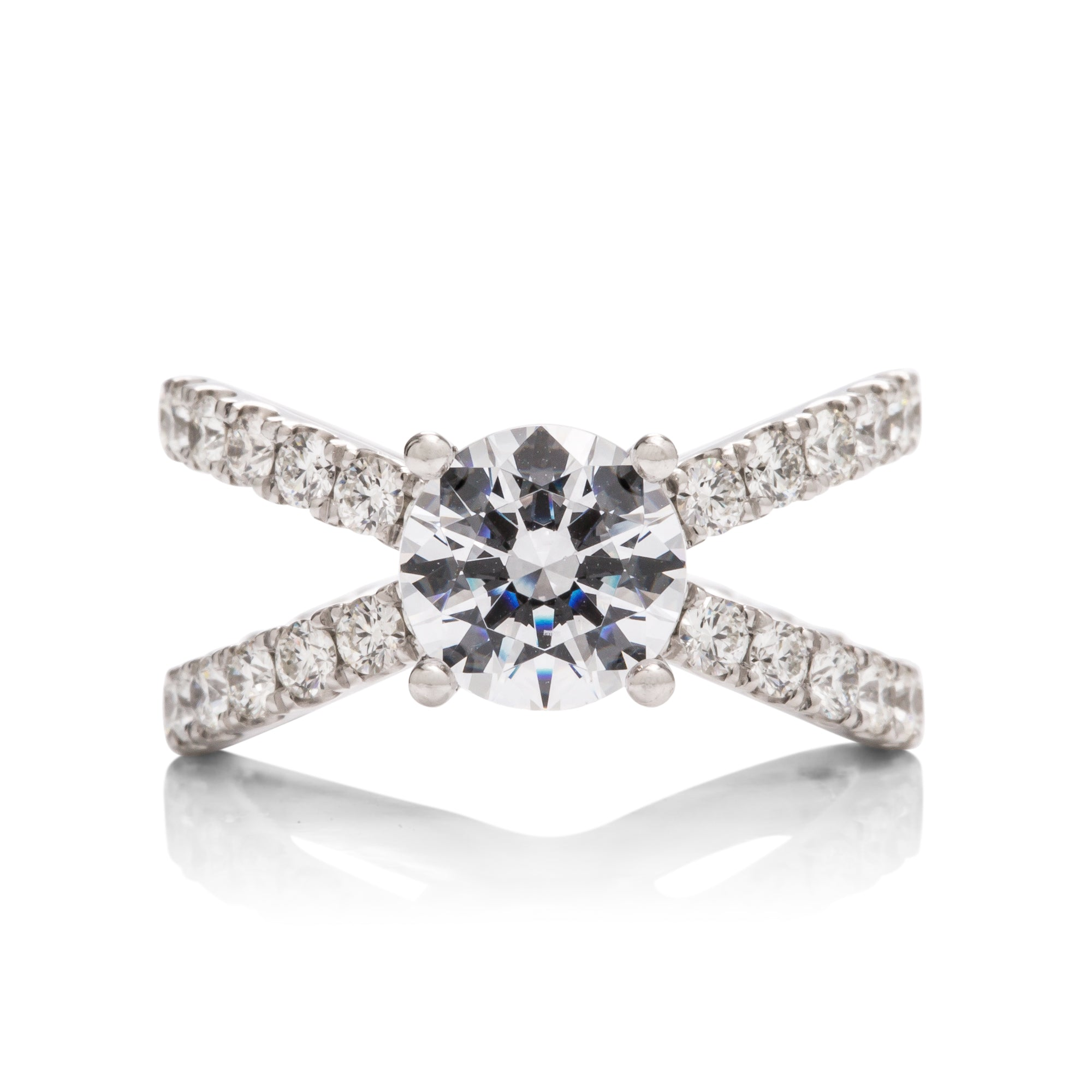 Dual Diamond Band Engagement Ring - Charles Koll Jewellers