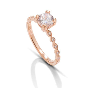 Rose Gold Bezel Semi-Mount Engagement Ring - Charles Koll Jewellers