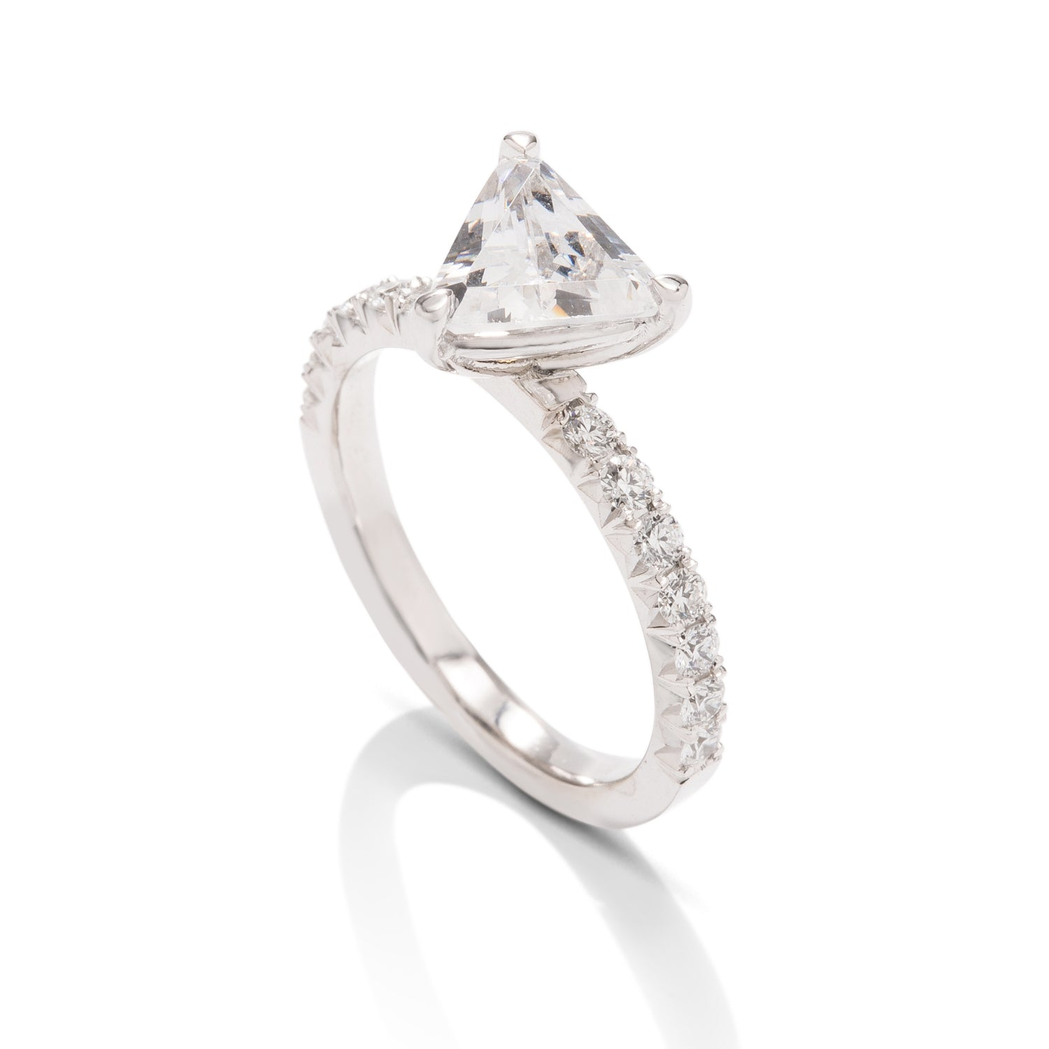 Trillion French Cut Semi-Mount - Charles Koll Jewellers