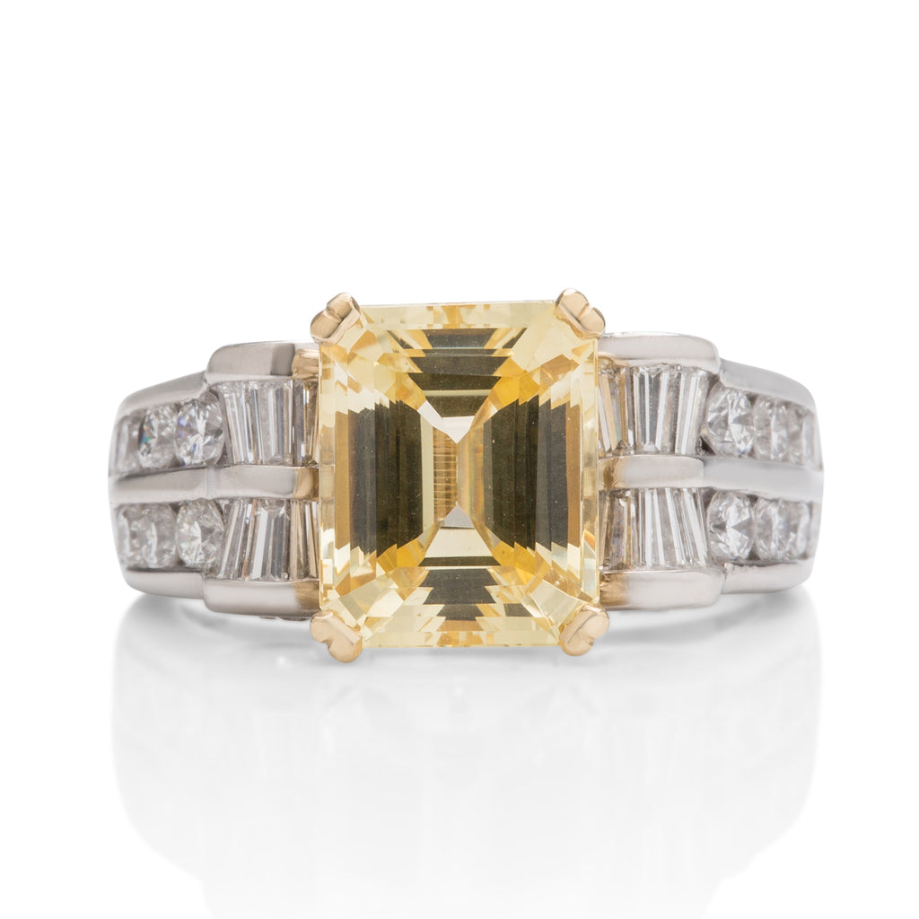 Yellow Sapphire and Diamond Ring - Charles Koll Jewellers