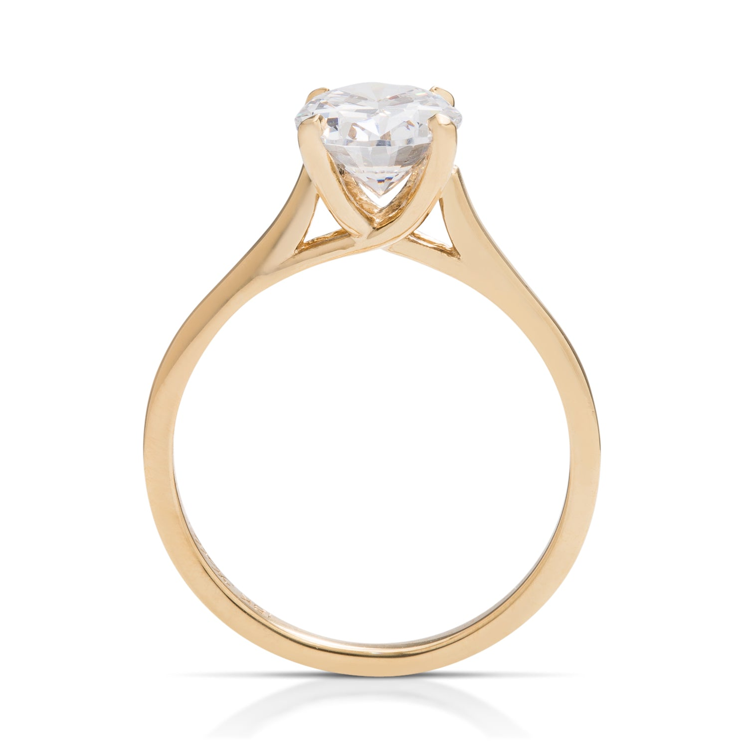 Yellow Gold Trellis Semi-Mount - Charles Koll Jewellers