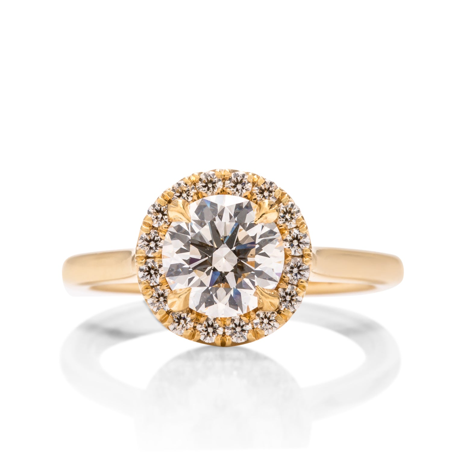 Hearts On Fire Round Halo Diamond Engagement Ring - Charles Koll Jewellers