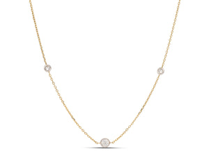 Two-Tone Solitaire Diamonds By The Yard Necklace - Charles Koll Jewellers
