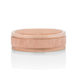Flat Stepped Milgrain Men's Band - Charles Koll Jewellers