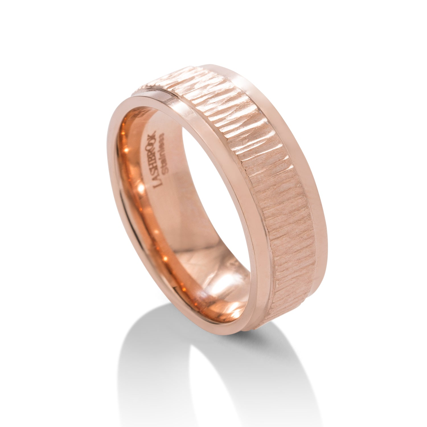Tree Bark Textured Men's Band - Charles Koll Jewellers