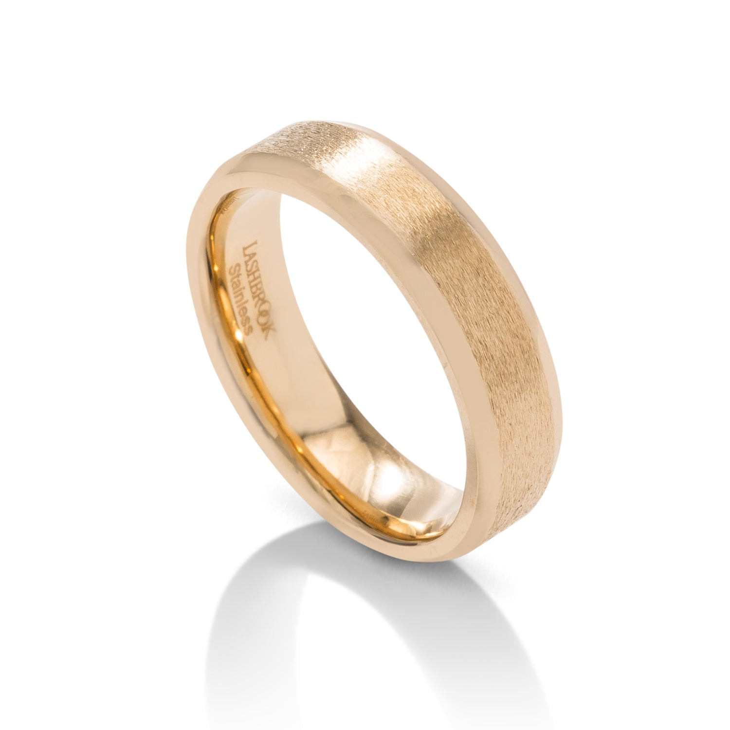 Domed Beveled Men's Band - Charles Koll Jewellers