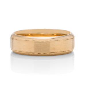 Satin Finish With Milgrain Men's Band - Charles Koll Jewellers