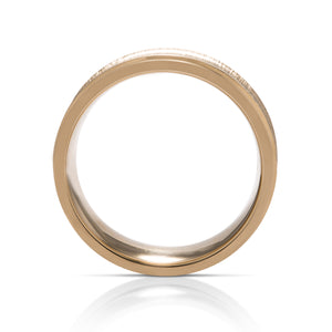 Concave Textured Men's Band - Charles Koll Jewellers