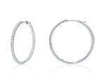 Round Inside/Outside White Gold Hoop Earrings - Charles Koll Jewellers