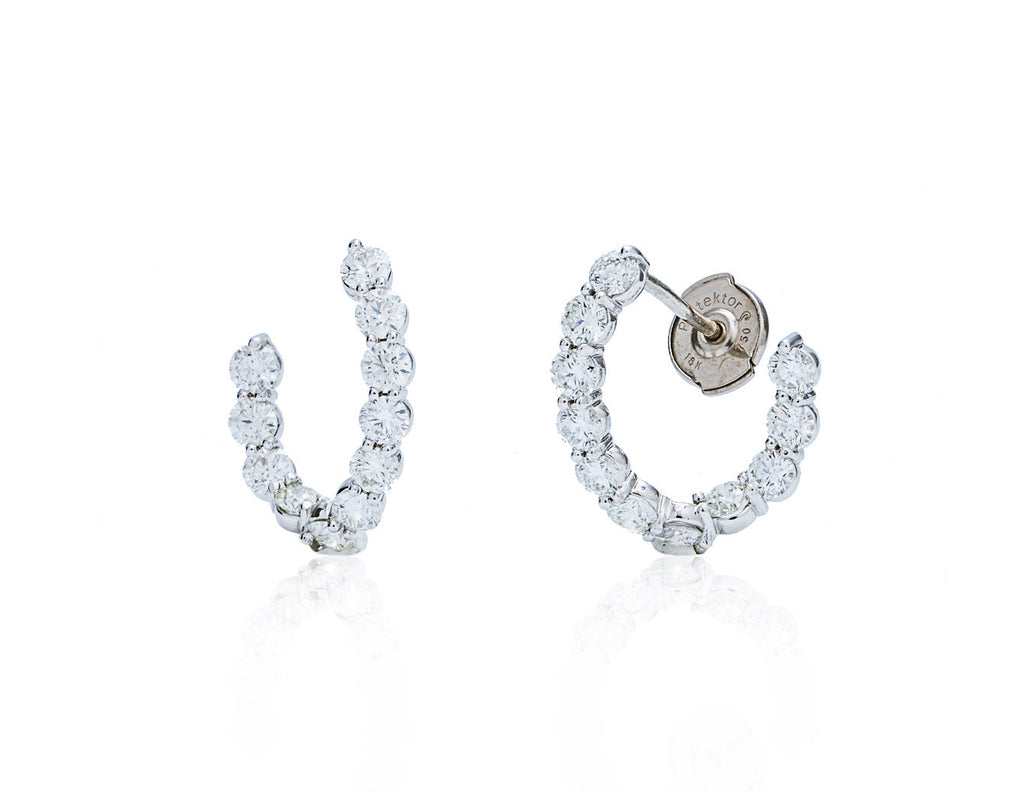 Twisted Diamond Earrings - Charles Koll Jewellers