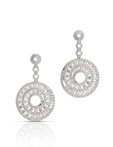 18k White Gold 3.87tcw Diamond Earrings - Charles Koll Jewellers