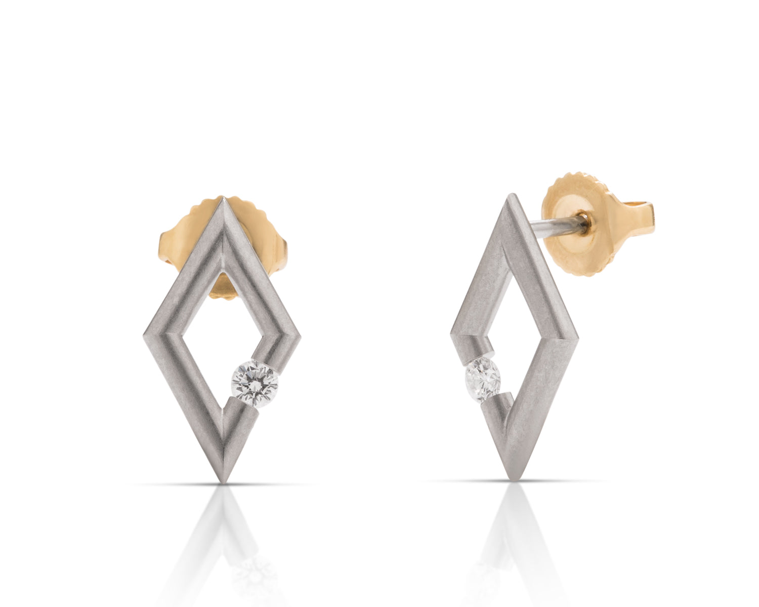 Platinum Micro Diamond Earrings