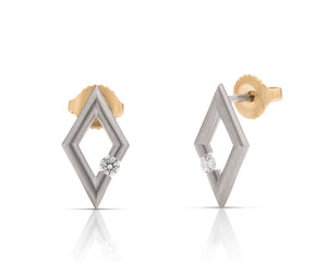 Platinum Micro Diamond Earrings - Charles Koll Jewellers