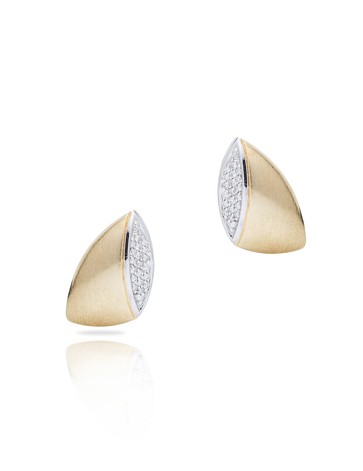 Two-Tone Gold and Diamond Earrings