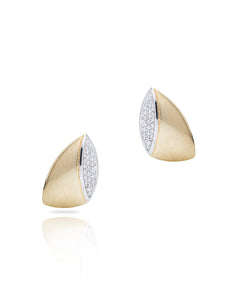 Two-Tone Gold and Diamond Earrings - Charles Koll Jewellers