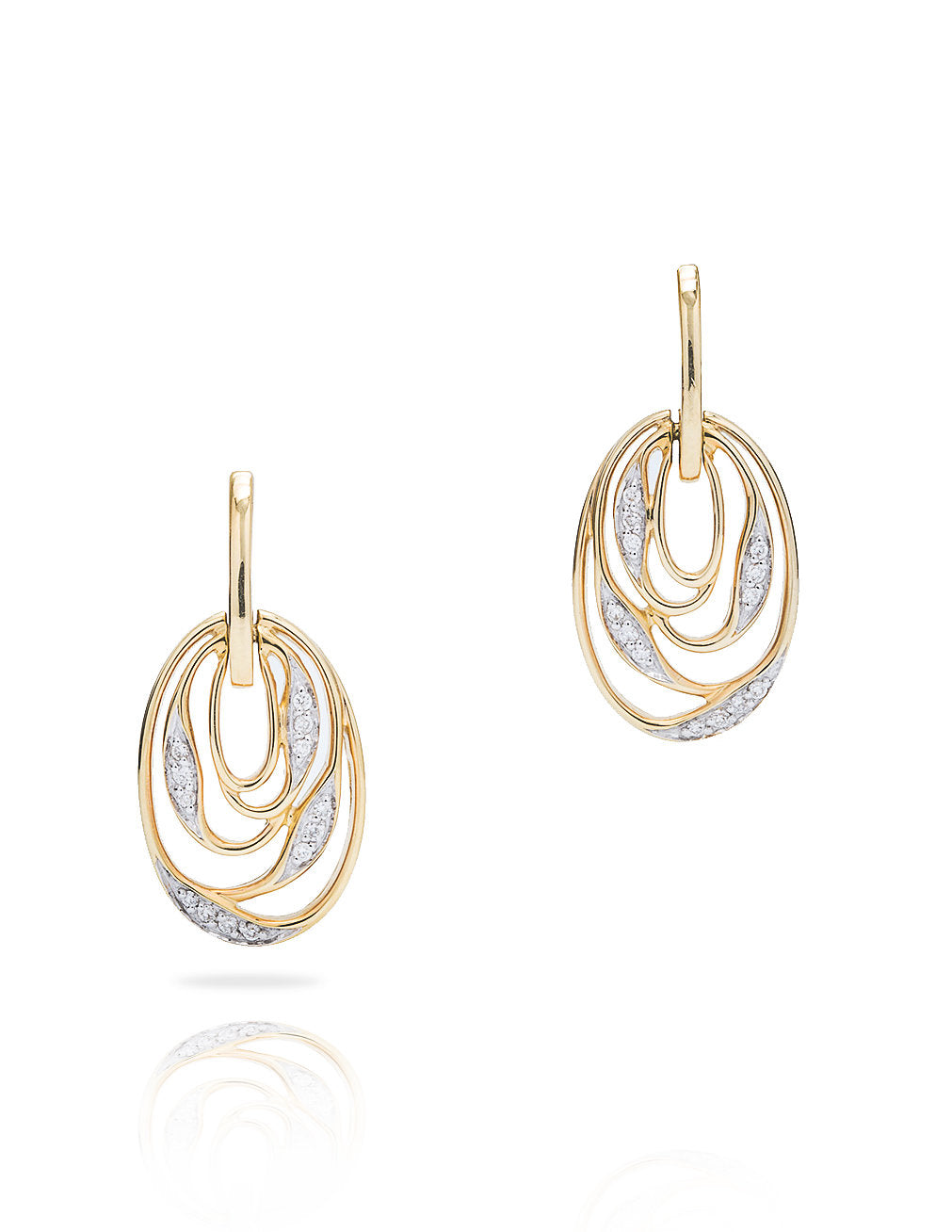 Wrapped Vine Yellow Gold Earrings - Charles Koll Jewellers