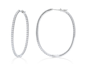 Inside/Outside Medium Hoop White Gold Earrings - Charles Koll Jewellers