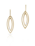 Yellow Gold Marquise Shaped Earrings - Charles Koll Jewellers