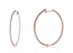 Medium Inside/Outside Oval Rose Gold Hoops - Charles Koll Jewellers