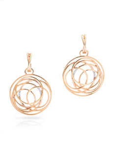 Rose Gold Multi-Circle Earrings - Charles Koll Jewellers