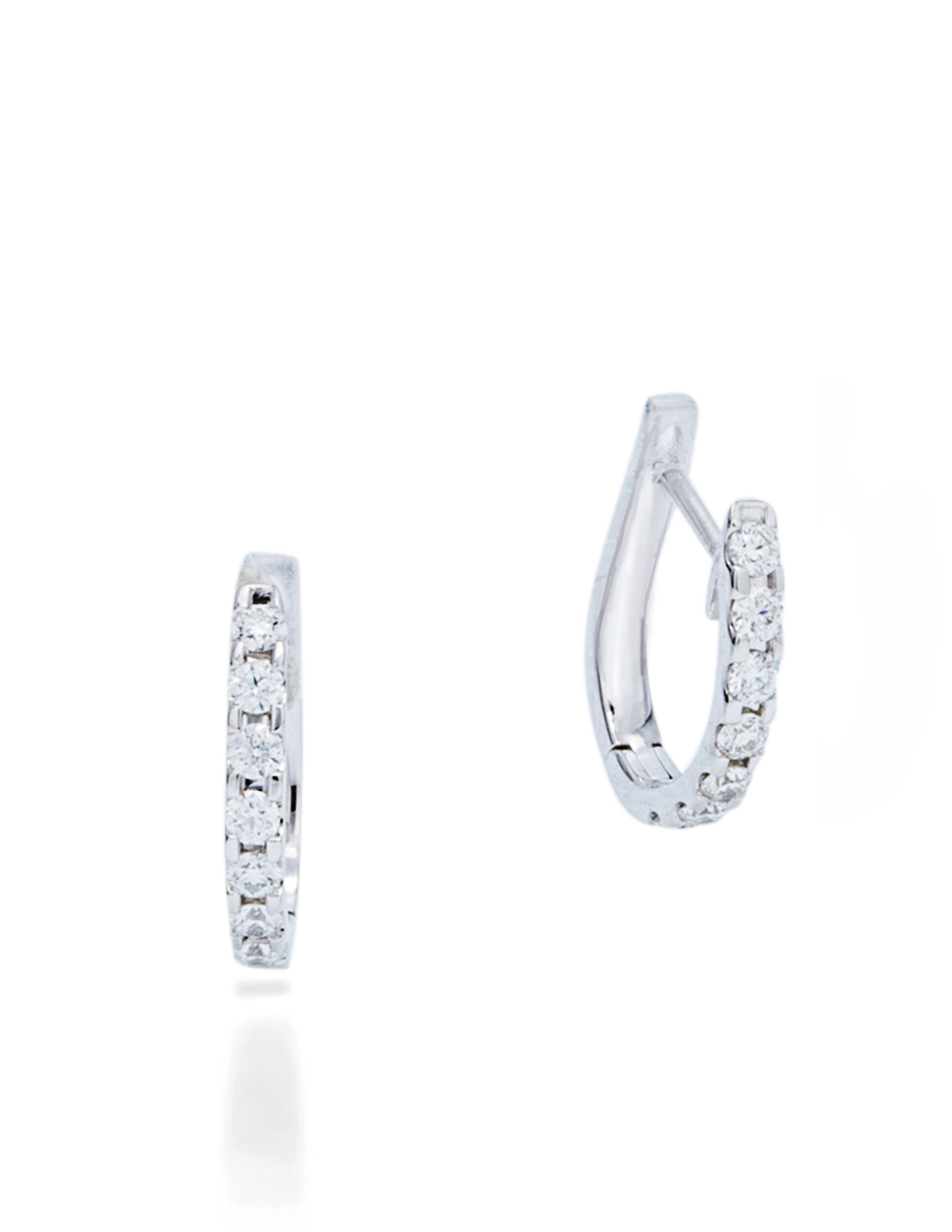 Small Diamond Hoop - Charles Koll Jewellers