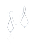 Angular Drop Earrings with Diamonds - Charles Koll Jewellers