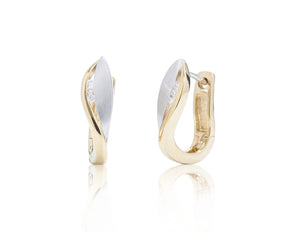 Two-Tone Diamond Accent Earrings - Charles Koll Jewellers