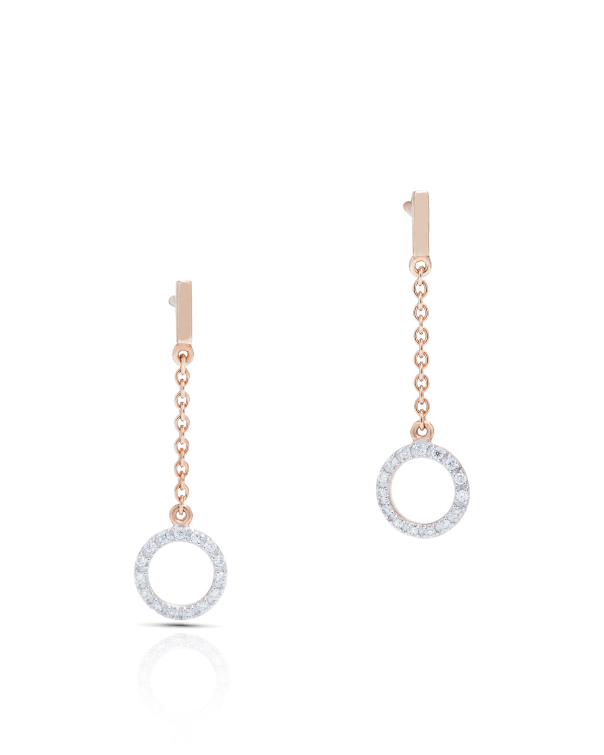 Circle Drop Earrings - Charles Koll Jewellers