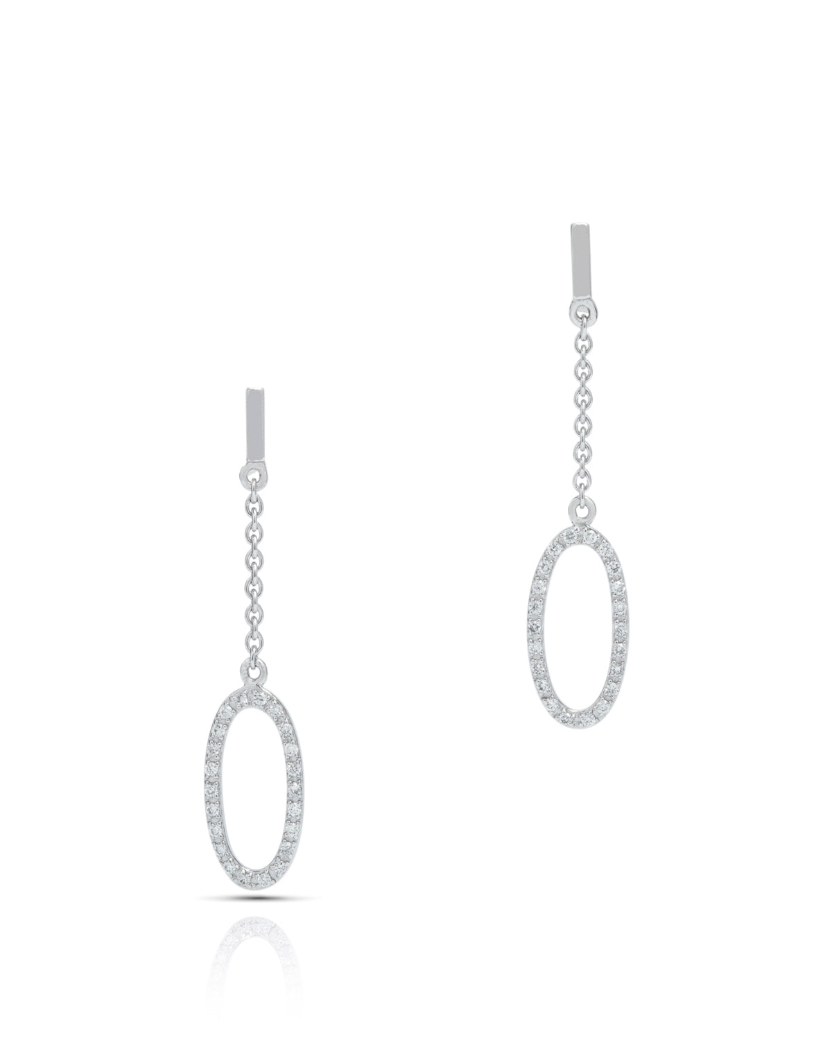 Oval Drop Earrings - Charles Koll Jewellers