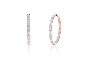 Inside/Outside Rose Gold Hoop Earrings - Charles Koll Jewellers
