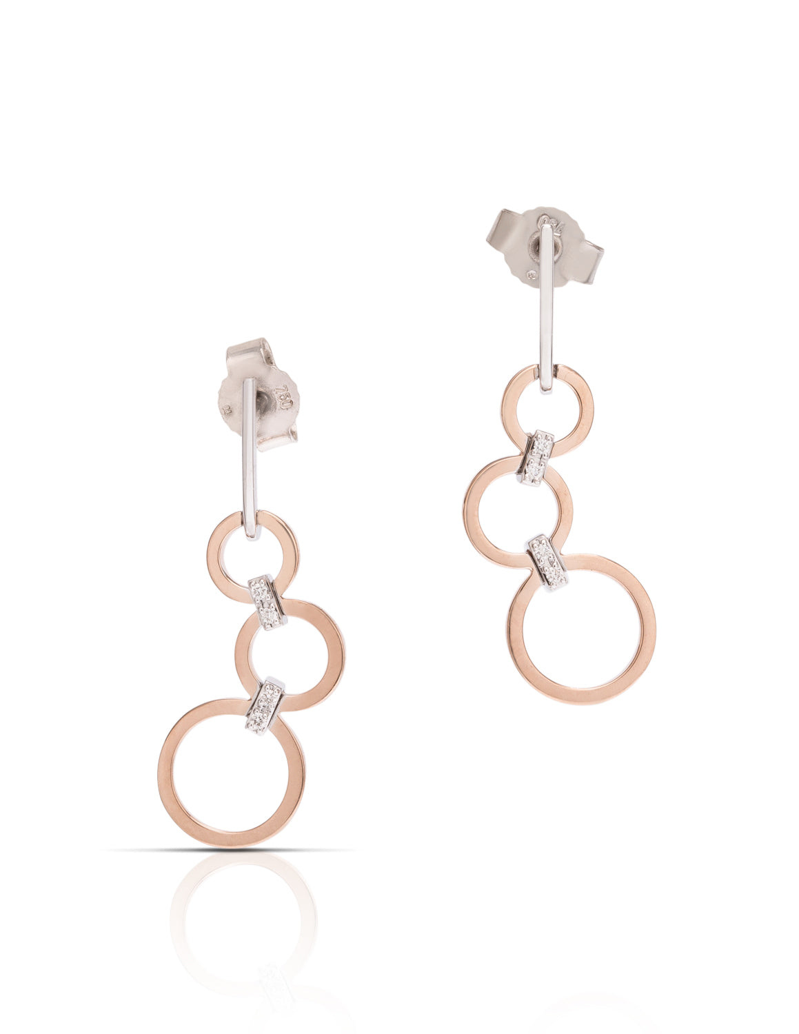 Two-Tone Open Circle Earrings - Charles Koll Jewellers