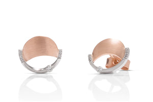 Two-Tone Abstract Earrings - Charles Koll Jewellers