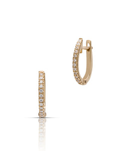 Diamond Huggie Hoops - Charles Koll Jewellers