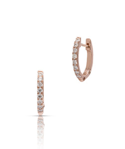 Mini Diamond Hoops - Charles Koll Jewellers