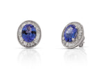 Tanzanite and Baguette Diamond Stud Earrings - Charles Koll Jewellers