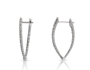 Marquise Shaped Hoop Earrings - Charles Koll Jewellers