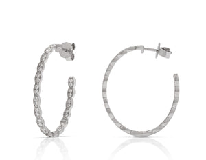 Hearts on Fire Lorelei Floral Oval Inside-Out Hoops - Charles Koll Jewellers