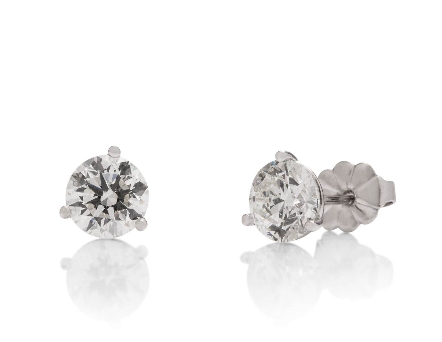 1.60 ctw Diamond Stud Earrings - Charles Koll Jewellers