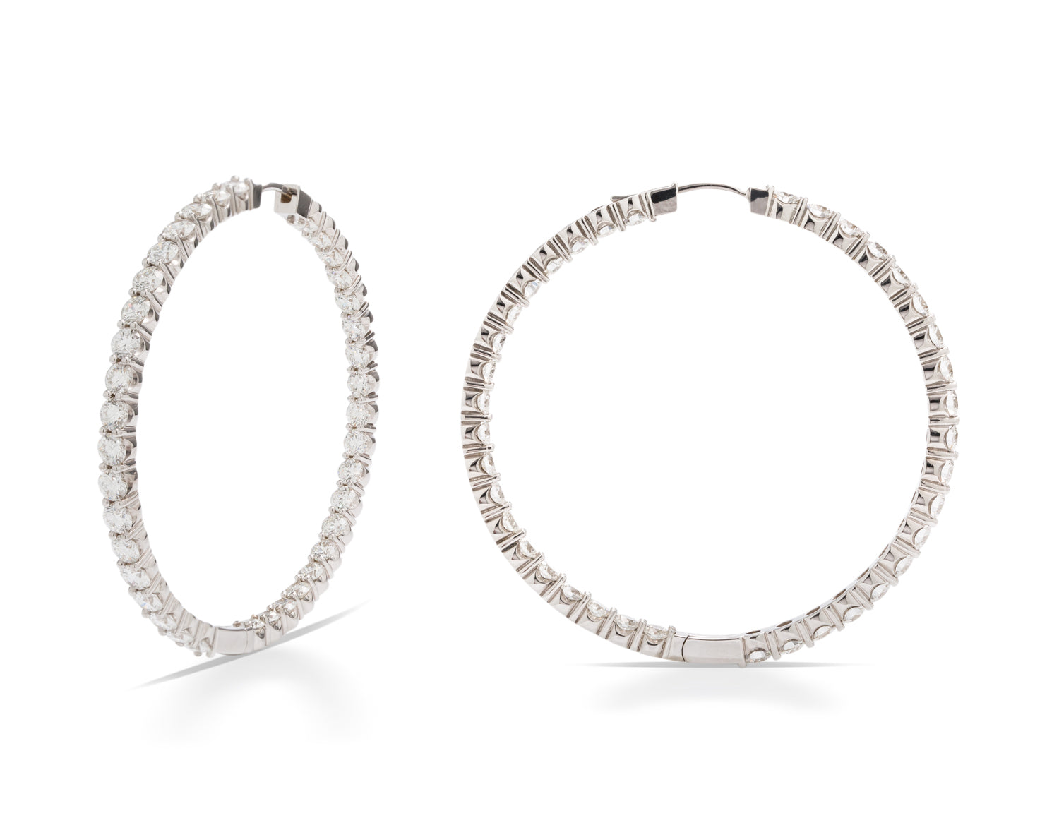 Inside/Outside Diamond Hoop Earrings - Charles Koll Jewellers