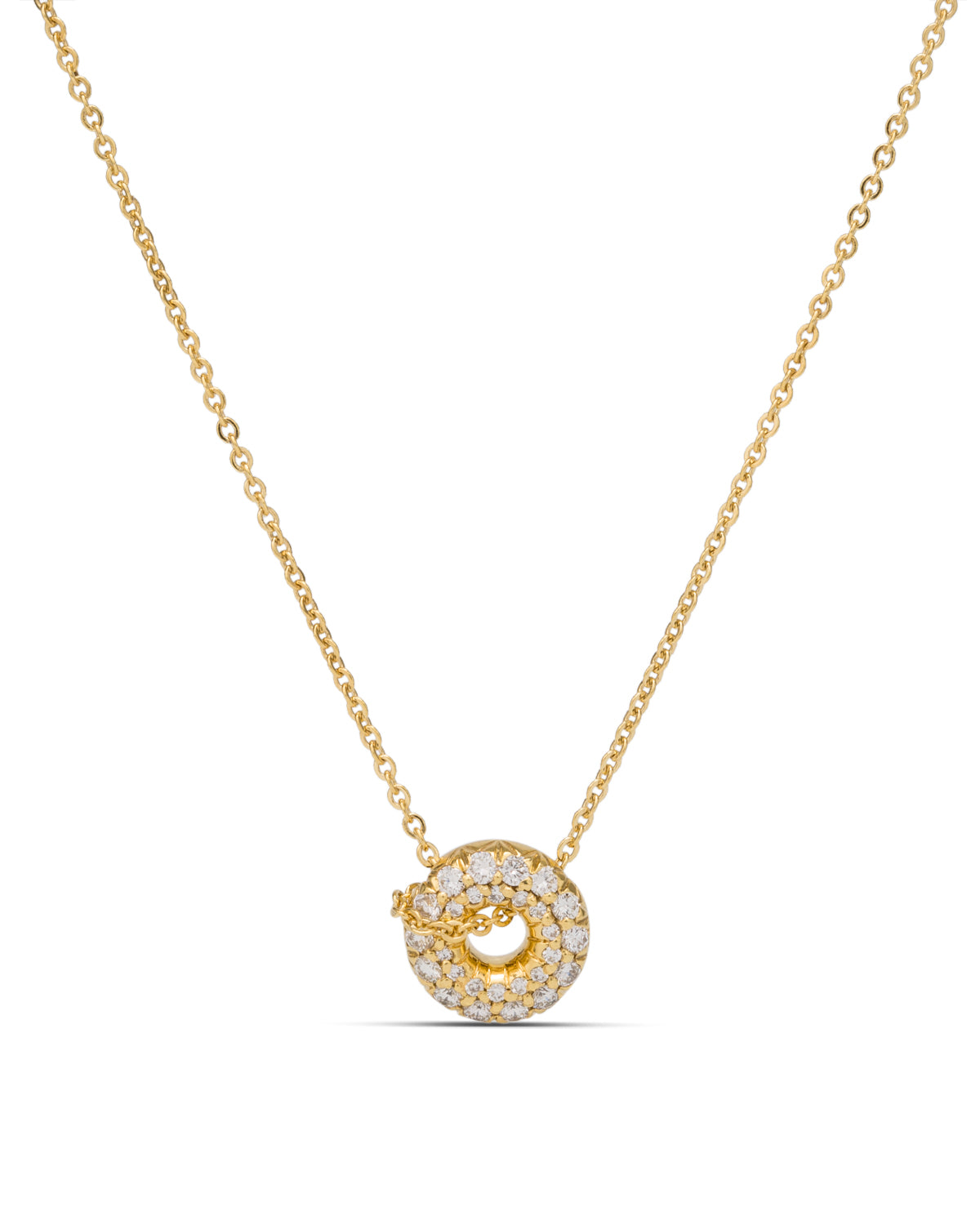 Rounded Circle Diamond Pendant - Charles Koll Jewellers