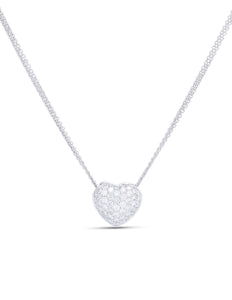 Diamond Heart Pendant - Charles Koll Jewellers