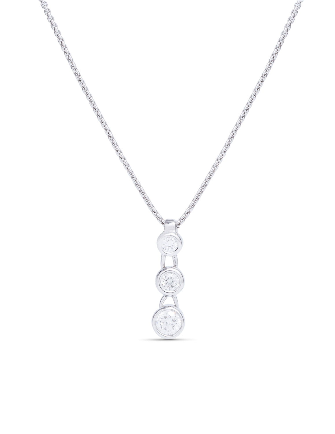 Three Stone Diamond Pendant - Charles Koll Jewellers